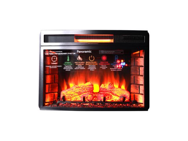 Электроочаг INTER-FLAME Panoramic 25 LED FX Quartz