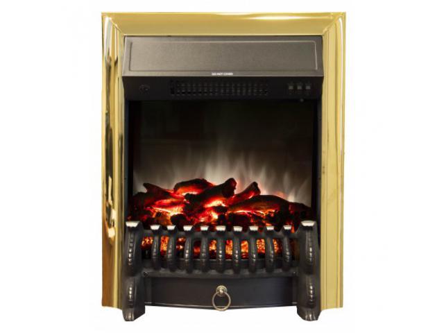 Электроочаг Real Flame Fobos Lux Brass