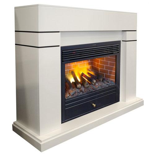Каминокомплект Real Flame портал Lindelse 26 WT с очагом 3D Novara