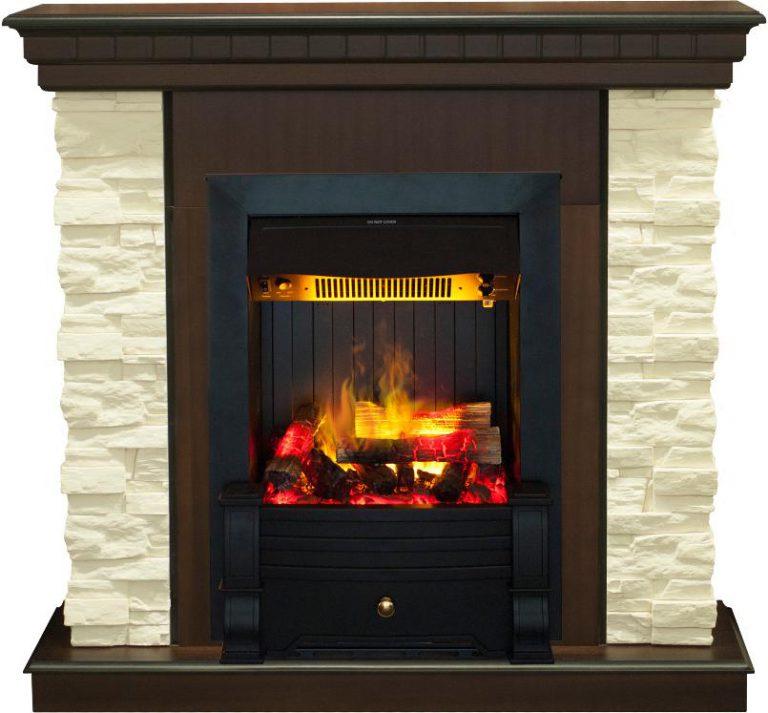 Каминокомплект Real Flame портал Elford AO с очагом 3D Olympic