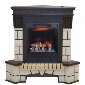 Каминокомплект Real Flame портал Stone Corner new  STD/EUG/VL угловой с очагом 3D Olympic