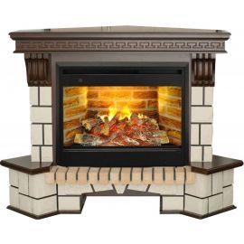Каминокомплект Real Flame портал Stone Corner new 26/HL AO (DN) с очагом 3D Helios